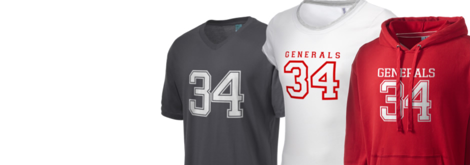Dinwiddie County High School Generals Apparel