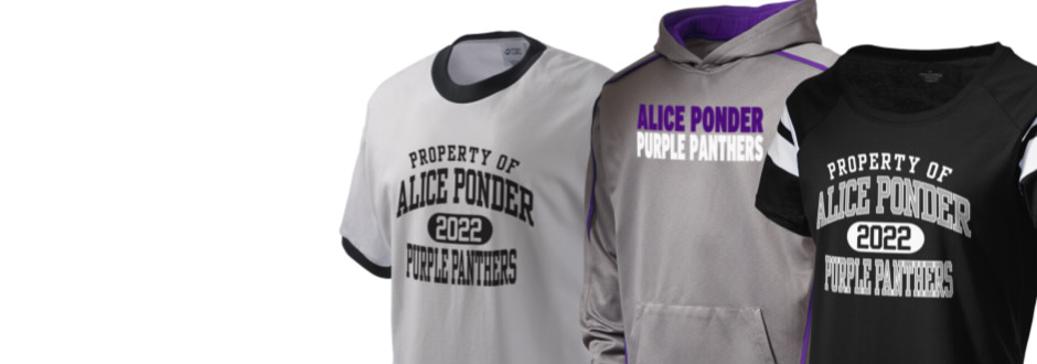 Alice ponder elementary school purple panthers apparel for T shirt printing mansfield tx