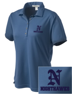Ironwood Ridge High School Nighthawks  Embroidered Women's Bamboo Charcoal Birdseye Jacquard Polo