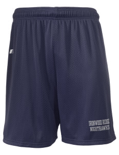 "Ironwood Ridge High School Nighthawks  Russell Men's Mesh Shorts, 7"" Inseam"
