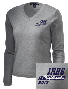 Ironwood Ridge High School Nighthawks Embroidered Women's V-Neck Sweater