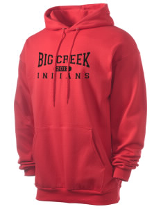 Big Creek Indians Men's 7.8 oz Lightweight Hooded Sweatshirt