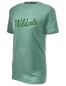 Woodward Middle School Wildcat Embroidered Alternative Unisex Eco Heather T-Shirt