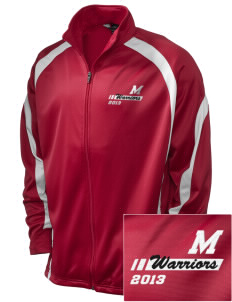 McEwen Middle School Warriors Embroidered Holloway Men's Tricotex Warm Up Jacket