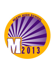 Miami High school Warriors Sticker