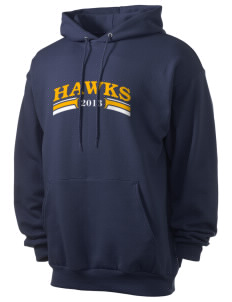 Mountain Valley Academy Hawks Men's 7.8 oz Lightweight Hooded Sweatshirt