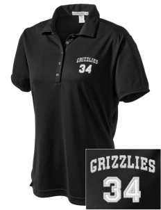 Pajaro Valley High School Grizzlies  Embroidered Women's Bamboo Charcoal Birdseye Jacquard Polo