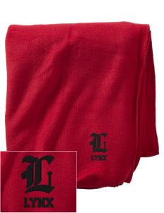 Lincoln High School Lynx Embroidered Holloway Stadium Fleece Blanket