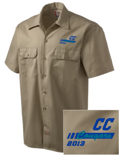 Cascade Christian School Cougars Embroidered Dickies Men's Short-Sleeve Workshirt