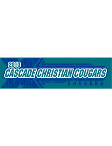 "Cascade Christian School Cougars Bumper Sticker 11"" x 3"""
