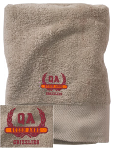 Queen Anne High School Grizzlies Embroidered Zero Twist Resort Towel