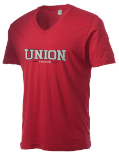 Union High School Titans Alternative Men's 3.7 oz Basic V-Neck T-Shirt
