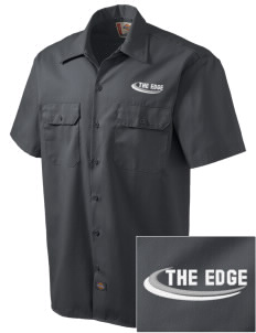 The Edge  Embroidered Dickies Men's Short-Sleeve Workshirt