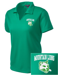 Sonoma Mountain Elementary Mountain Lions Embroidered Women's Dri Mesh Polo