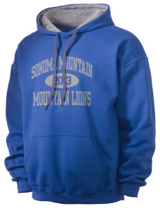 Sonoma Mountain Elementary Mountain Lions Men's 7.75 oz Contrast Hooded Sweatshirt