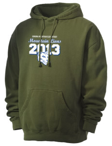 Sonoma Mountain Elementary Mountain Lions Men's 80/20 Pigment Dyed Hooded Sweatshirt