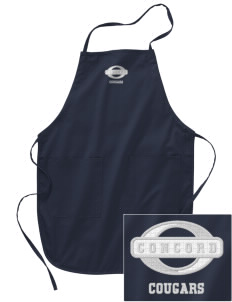 Concord Elementary School Cougars Embroidered Full Length Apron