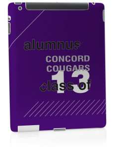 Concord Elementary School Cougars Apple iPad 2 Skin