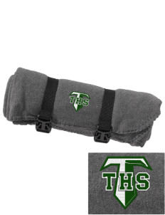 Tuscarora High School Titans Embroidered Fleece Blanket with Strap