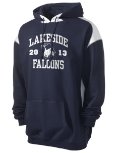Lakeside Christian Academy FALCONS Men's Pullover Hooded Sweatshirt with Contrast Color