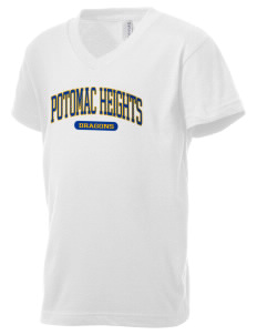 Potomac Heights Elementary School Dragons Kid's V-Neck Jersey T-Shirt