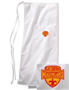 Clay Central School Meadowlarks Embroidered Full Bistro Bib Apron