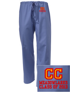 Clay Central School Meadowlarks Embroidered Scrub Pants