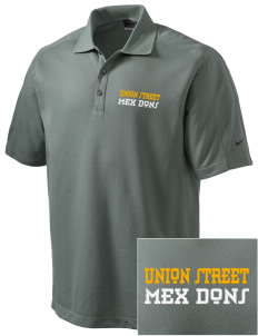 Union Street Elementary School Mex Dons Embroidered Nike Men's Dri-FIT Pique II Golf Polo