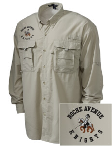 Roche Avenue School Knights Embroidered Men's Explorer Shirt with Pockets