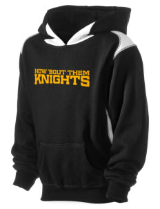 Roche Avenue School Knights Kid's Pullover Hooded Sweatshirt with Contrast Color