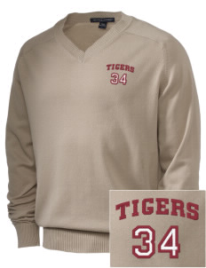 Silsbee High School Tigers Embroidered Men's V-Neck Sweater