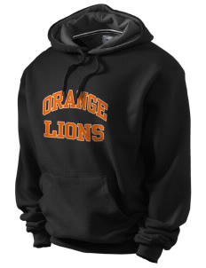 Orange High School Lions Champion Men's Hooded Sweatshirt