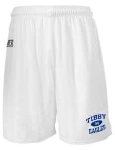 "Tibby Elementary School Eagles  Russell Men's Mesh Shorts, 7"" Inseam"