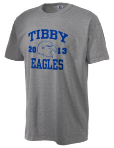 Tibby Elementary School Eagles  Russell Men's NuBlend T-Shirt