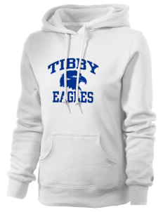 Tibby Elementary School Eagles Russell Women's Pro Cotton Fleece Hooded Sweatshirt