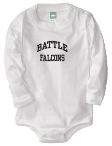 Battle Elementary School Falcons  Baby Long Sleeve 1-Piece with Shoulder Snaps