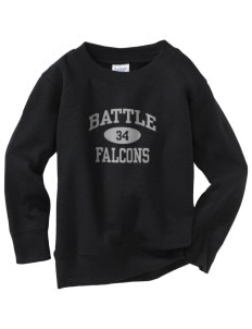 Battle Elementary School Falcons Toddler Crewneck Sweatshirt