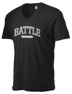 Battle Elementary School Falcons Alternative Men's 3.7 oz Basic V-Neck T-Shirt