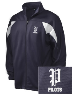 Major Lynn Mokler School Pilots Embroidered Holloway Men's Full-Zip Track Jacket
