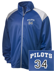 Major Lynn Mokler School Pilots Embroidered Men's Tricot Track Jacket