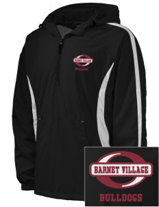 Barnet Village School Bulldogs Embroidered Men's Colorblock Raglan Anorak
