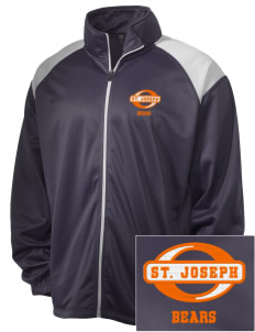 Saint Joseph Junior High School Bears Embroidered Men's Tricot Track Jacket