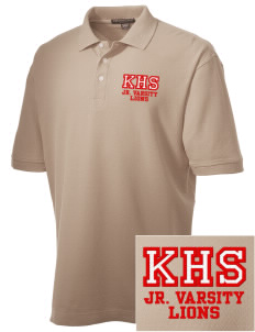 Kerman High School Lions Embroidered Men's Performance Plus Pique Polo