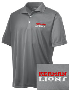Kerman High School Lions Embroidered Men's Double Mesh Polo