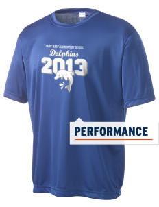 Saint Mary Elementary School Dolphins Men's Competitor Performance T-Shirt
