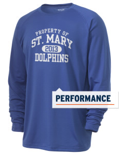 Saint Mary Elementary School Dolphins Men's Ultimate Performance Long Sleeve T-Shirt
