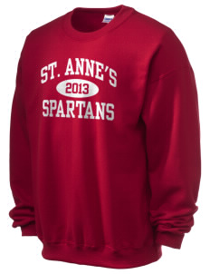 Saint Anne's School Spartans Ultra Blend 50/50 Crewneck Sweatshirt