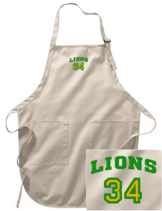 Saint Paul School Lions Embroidered Full-Length Apron with Pockets