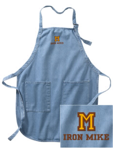McCorristin Catholic High School Iron Mike Embroidered Full-Length Apron with Pockets