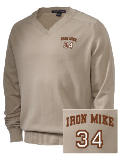 McCorristin Catholic High School Iron Mike Embroidered Men's V-Neck Sweater